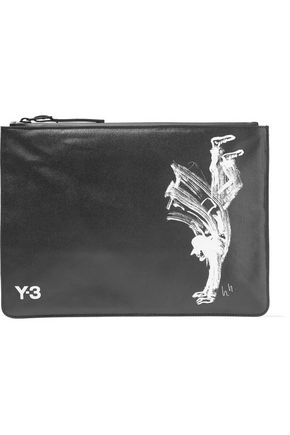 Y-3 + adidas Originals printed faux leather pouch
