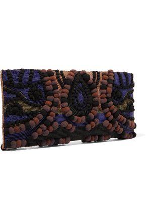 ANTIK BATIK Baguette bead-embellished clutch