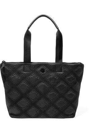 TORY BURCH Flame embroidered quilted shell tote