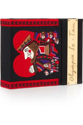 OLYMPIA LE-TAN King Of Hearts embroidered clutch