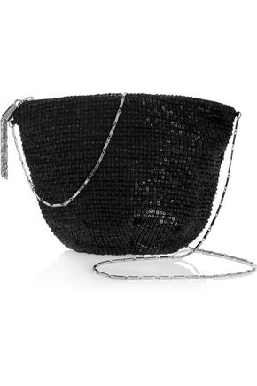 MAJE Sequined tulle shoulder bag