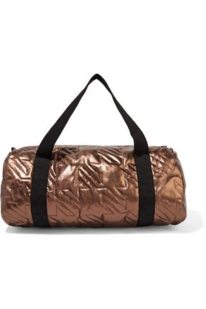 MAJE Metallic quilted leather shoulder bag