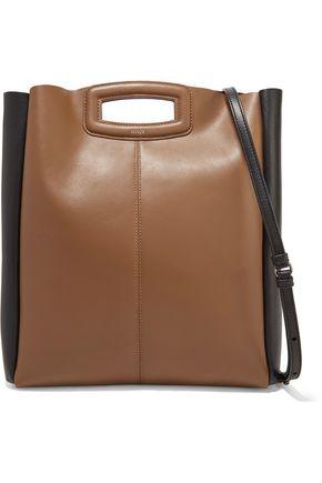 MAJE Two-tone leather shoulder bag