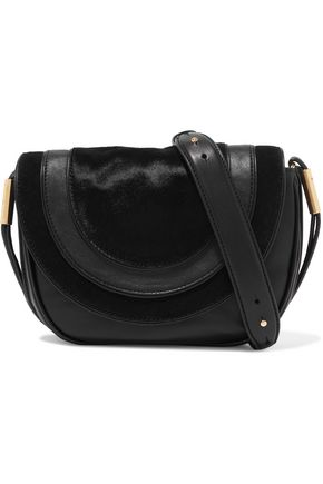 DIANE VON FURSTENBERG Calf hair and leather shoulder bag