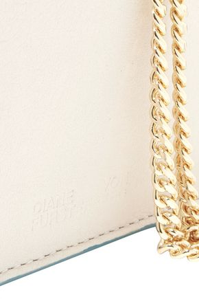 DIANE VON FURSTENBERG Soirée mirrored-leather shoulder bag