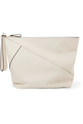 DIANE VON FURSTENBERG Origami paneled leather clutch