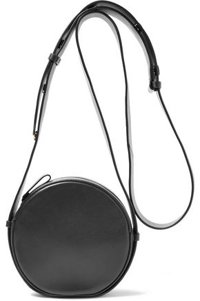 DIANE VON FURSTENBERG Circle smooth and patent-leather shoulder bag
