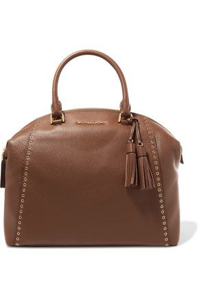 MICHAEL MICHAEL KORS Riley embellished textured-leather tote