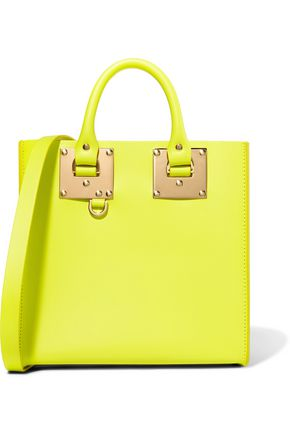 SOPHIE HULME Albion neon leather tote
