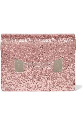 SOPHIE HULME Compton glittered Perspex clutch