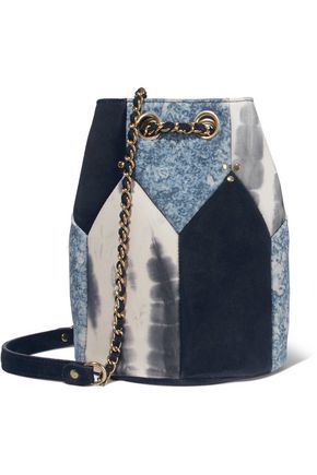 JEROME DREYFUSS Popeye medium paneled leather bucket bag