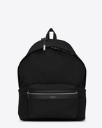 SAINT LAURENT Giant Backpacks U giant city backpack in black canvas nylon and leather  f
