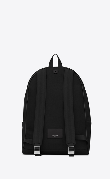 SAINT LAURENT Giant Backpacks U giant city backpack in black canvas nylon and leather  b_V4