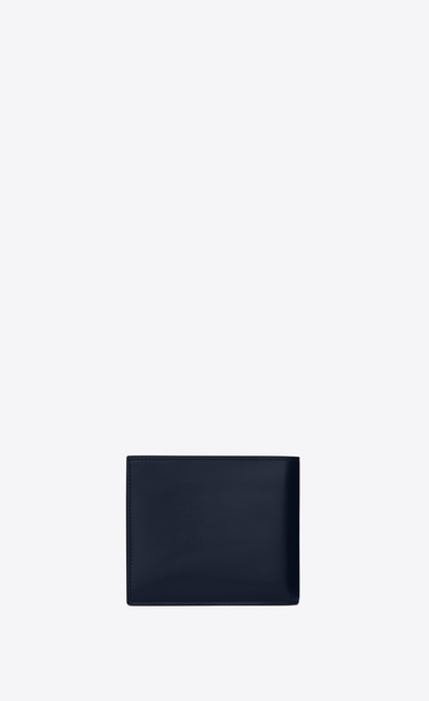 SAINT LAURENT ID SLG U ID EAST/WEST wallet in navy blue leather b_V4