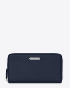 SAINT LAURENT ID SLG U ID zip around wallet in navy blue leather f