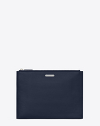SAINT LAURENT ID SLG U ID tablet holder in navy blue leather f