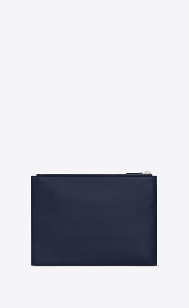 SAINT LAURENT ID SLG U ID tablet holder in navy blue leather b_V4