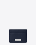 SAINT LAURENT ID SLG U ID card case in navy blue leather f