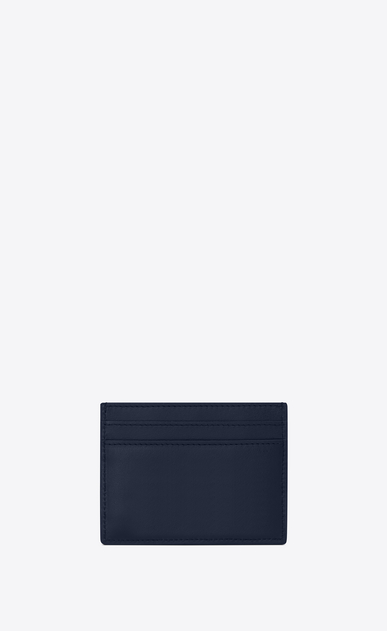 SAINT LAURENT ID SLG U ID card case in navy blue leather b_V4