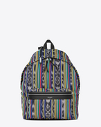 SAINT LAURENT Backpack U CITY backpack in multicolored ikat canvas f