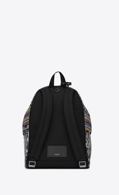 SAINT LAURENT Backpack U CITY backpack in multicolored ikat canvas b_V4
