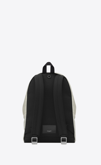 SAINT LAURENT Backpack U CITY WAITING FOR SUNSET backpack in white canvas b_V4