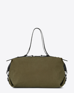 SAINT LAURENT ID bags U Large convertible ID bag in khaki gabardine. f