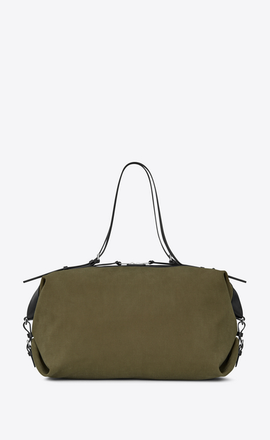 SAINT LAURENT ID bags U Large convertible ID bag in khaki gabardine. a_V4