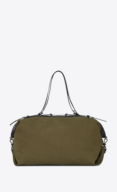 SAINT LAURENT ID bags U Large convertible ID bag in khaki gabardine. b_V4