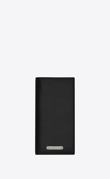 SAINT LAURENT ID SLG Man ID continental wallet in black leather a_V4