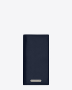 SAINT LAURENT ID SLG U ID continental wallet in navy blue leather f