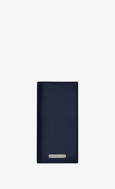 SAINT LAURENT ID SLG Man ID continental wallet in navy blue leather a_V4