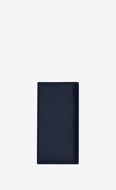 SAINT LAURENT ID SLG Man ID continental wallet in navy blue leather b_V4