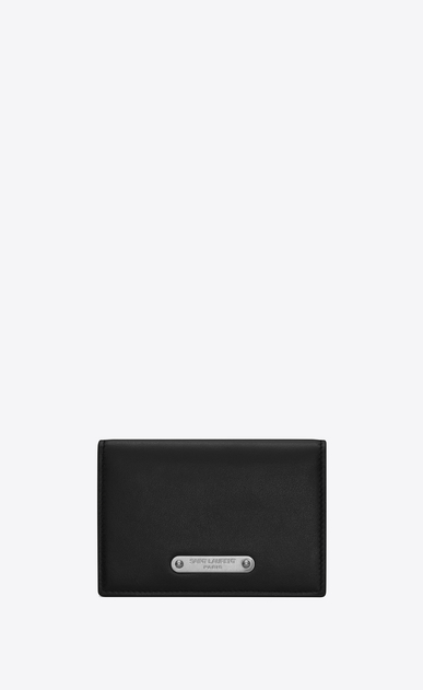 SAINT LAURENT ID SLG Uomo Porta business card in pelle nera a_V4