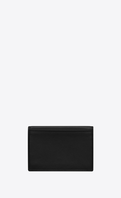 SAINT LAURENT ID SLG U Porta business card in pelle nera b_V4