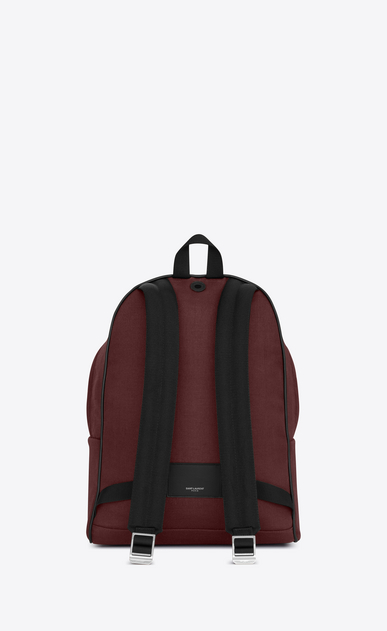 SAINT LAURENT Backpack U CITY backpack in dark red nylon canvas b_V4