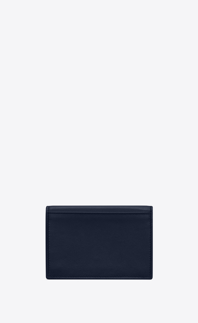 SAINT LAURENT ID SLG U Business card case in navy blue leather b_V4