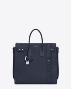 SAINT LAURENT Sac de Jour Men U North/south SAC DE JOUR SOUPLE holdall in navy blue leather f