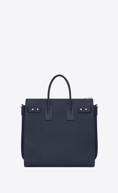 SAINT LAURENT Sac de Jour Men Man North/south SAC DE JOUR SOUPLE holdall in navy blue leather b_V4