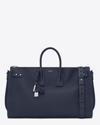SAINT LAURENT Sac de Jour Men U Large DUFFLE 48H SAC DE JOUR SOUPLE bag in navy blue grained leather f