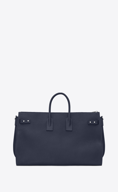 SAINT LAURENT Sac de Jour Men Uomo Large DUFFLE 48H SAC DE JOUR SOUPLE Bag blu navy in pelle martellata b_V4