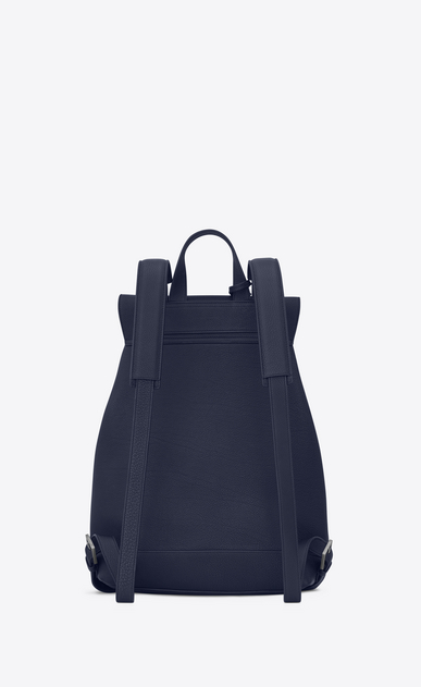 SAINT LAURENT Sac de Jour Men U SAC DE JOUR SOUPLE backpack in navy blue grained leather b_V4
