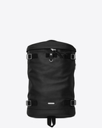 SAINT LAURENT Buckle Backpacks U RIVINGTON RACE backpack in black leather f
