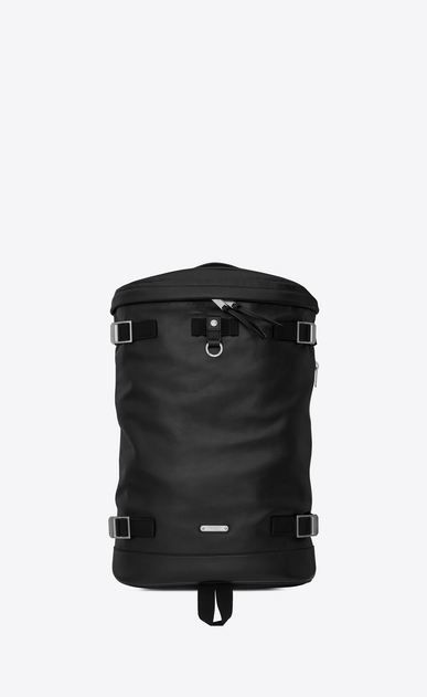 SAINT LAURENT Buckle Backpacks Man RIVINGTON RACE backpack in black leather a_V4