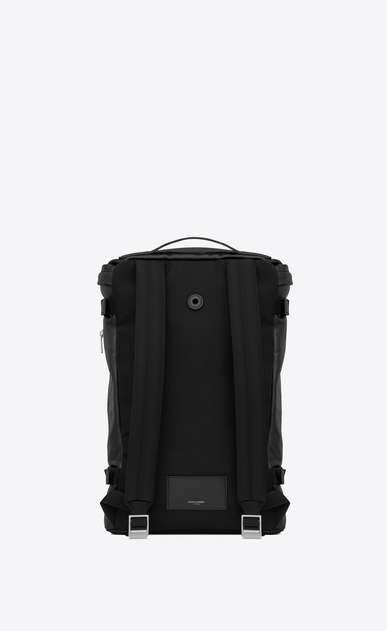 SAINT LAURENT Buckle Backpacks Man RIVINGTON RACE backpack in black leather b_V4
