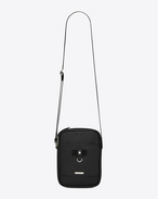 SAINT LAURENT Messenger And Crossbody U  RIVINGTON pouch in black leather f