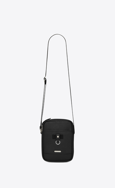 SAINT LAURENT Messenger And Crossbody U  RIVINGTON pouch in black leather a_V4