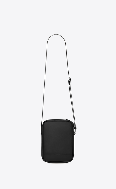 SAINT LAURENT Messenger And Crossbody U  RIVINGTON pouch in black leather b_V4
