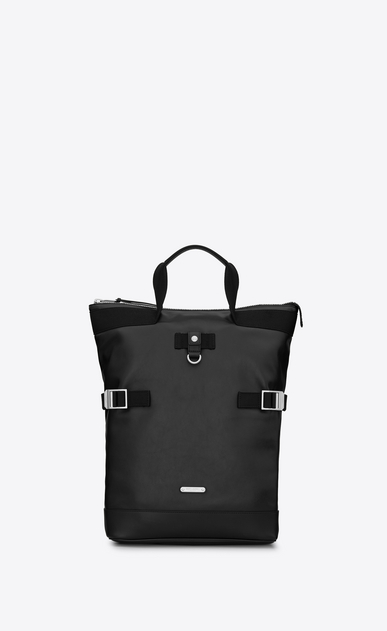 SAINT LAURENT Buckle Backpacks Man RIVINGTON RACE convertible backpack in black leather a_V4