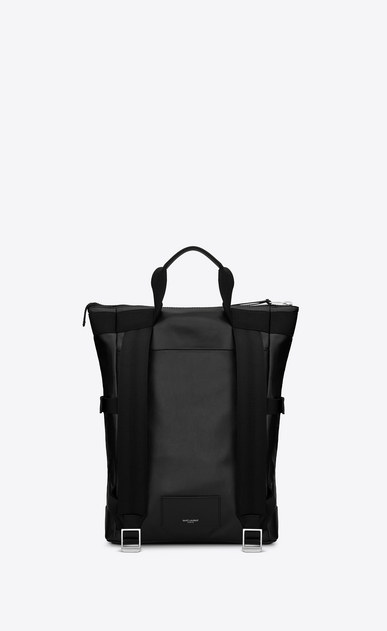 SAINT LAURENT Buckle Backpacks Man RIVINGTON RACE convertible backpack in black leather b_V4